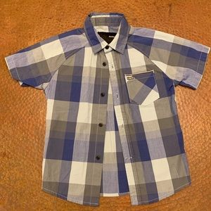 Toddler boys Hurley button up plaided shirt